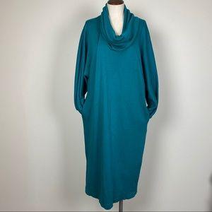 Vintage L Rothschild Cowl Neck Dress with Pockets